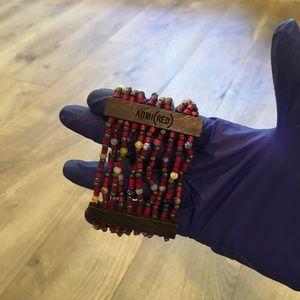 ADMI(RED) Beaded Bracelet O/S